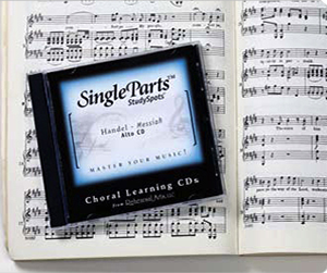 Image of sheet music and the SingleParts CD